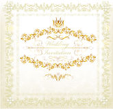Invitation wedding card in vintage luxury style royalty free illustration