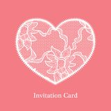 Invitation wedding card Royalty Free Stock Photography