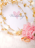 Invitation wedding estampée Photo stock