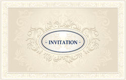 Invitation or Wedding frame with Floral background Royalty Free Stock Photography