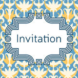 Invitation, wedding or greeting card template. Elegant frame Stock Photo