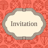 Invitation, wedding or greeting card template. Elegant frame Stock Photos
