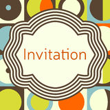 Invitation, wedding or greeting card template. Elegant frame Royalty Free Stock Photo