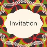 Invitation, wedding or greeting card template. Elegant frame Royalty Free Stock Photos