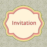 Invitation, wedding or greeting card template. Elegant frame Stock Photos