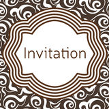 Invitation, wedding or greeting card template. Elegant frame Stock Photography