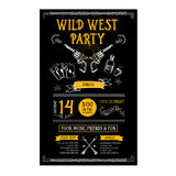 Invitation wild west party flyer. Typography  and design. Royalty Free Stock Images