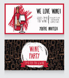 Invitation for wine party Royalty Free Stock Photography