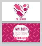 Invitation for wine party Stock Photo