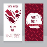Invitation for wine party Royalty Free Stock Photos