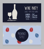 Invitation for wine party Royalty Free Stock Photo