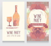 Invitation for wine party Royalty Free Stock Images