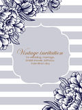 Invitation With Floral Background Stock Photo