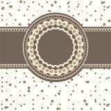 Invitational card with a polka-dot. Stylish vintage card Royalty Free Stock Photo