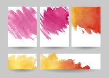 Invitations d'aquarelle réglées Image libre de droits