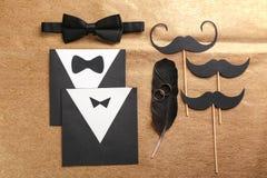 Invitations de carte de mariage homosexuel Photos libres de droits