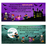 Invitations de Halloween Image stock