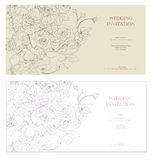 Invitations de mariage illustration libre de droits