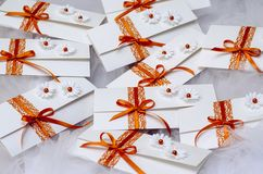Invitations de mariage Photo stock