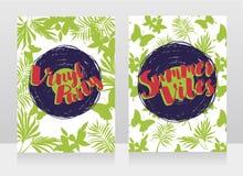 Invitations de style de disco dans le style tropical à la mode Photo stock