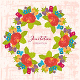 Invitations flowers for holiday Stock Photos