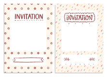 Invitations templates Royalty Free Stock Images