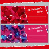 Invitations for Valentines days party Stock Image