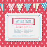 Invite and bunting background landscape Stock Image