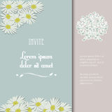 Invite with flowers and sample text Stock Images