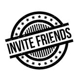 Invite Friends rubber stamp Stock Photography