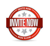 Invite now seal illustration design Royalty Free Stock Photo