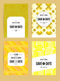 Invite template set. Vector card set templates. Abstract background illustration for Save The Date, baby shower, mothers day, valentines day, birthday cards Royalty Free Stock Image