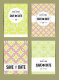 Invite template set. Vector card set templates. Abstract background illustration for Save The Date, baby shower, mothers day, valentines day, birthday cards Stock Images
