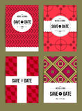 Invite template set Royalty Free Stock Images