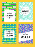 Invite template set. Vector card set templates. Abstract background illustration for Save The Date, baby shower, mothers day, valentines day, birthday cards Stock Image