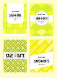 Invite template set. Vector card set templates. Abstract background illustration for Save The Date, baby shower, mothers day, valentines day, birthday cards Stock Photo