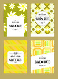 Invite template set. Vector card set templates. Abstract background illustration for Save The Date, baby shower, mothers day, valentines day, birthday cards Royalty Free Stock Photos