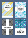 Invite template set. Vector card set templates. Abstract background illustration for Save The Date, baby shower, mothers day, valentines day, birthday cards Royalty Free Stock Photo