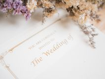 Invited card to wedding. Sweet invited card to  wedding ceremony Stock Images