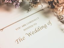 Invited card to wedding. Sweet invited card to  wedding ceremony Stock Image