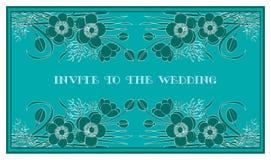 Invitera till bröllopet Fotografering för Bildbyråer