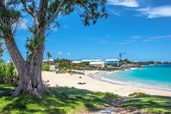 Inviterande Bermuda strand Fotografering för Bildbyråer