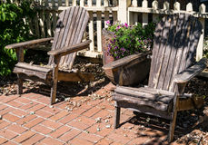 Inviting Adirondack chairs Royalty Free Stock Photos