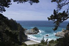 Inviting beach Big Sur California Royalty Free Stock Photo