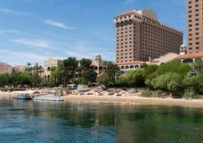 Inviting beach at a resort, Laughlin, Nevada Royalty Free Stock Image