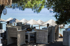 Inviting cafe on the beach Stock Image