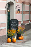 Inviting cafe entrance Stock Photo