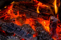 Inviting campfire Stock Photos