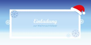 Inviting christmas celebration snow nikolaus cap. Vector illustration EPS10 royalty free illustration