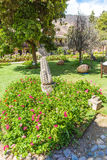 Inviting Courtyard  at Upscale hotel in Cusco, Peru, South America Royalty Free Stock Image
